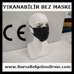 Yıkanabilir Bez Maske Ce Belgesi