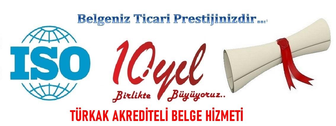 Bursa Türkak onaylı iso Belgesi