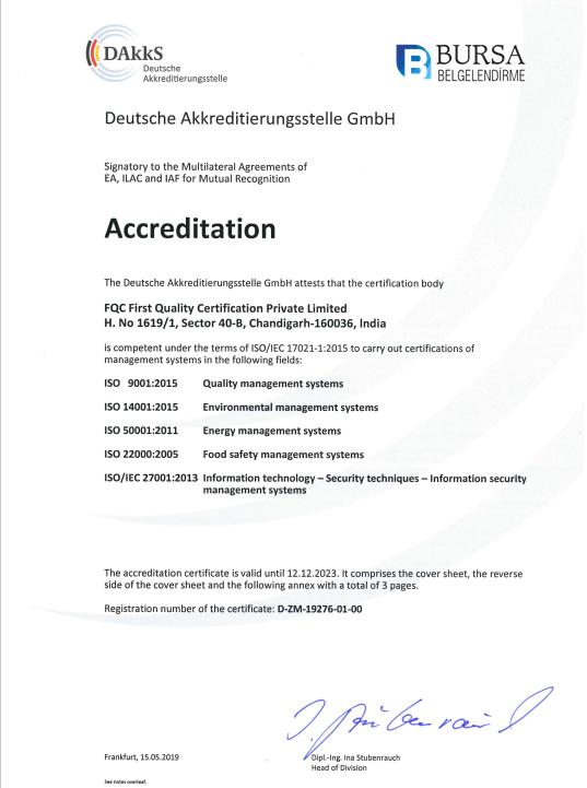 Dakks Akreditasyon ISO